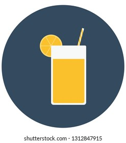 Appetizer drink, drink Isolated Color Vector Icon that can be easily modified or edit.