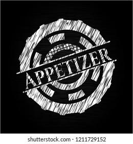 Appetizer on chalkboard