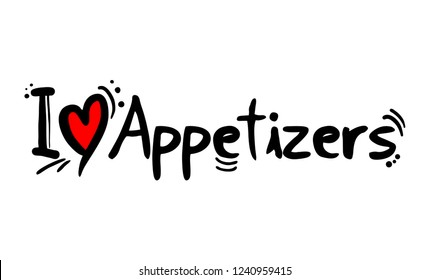 Appetizers love message