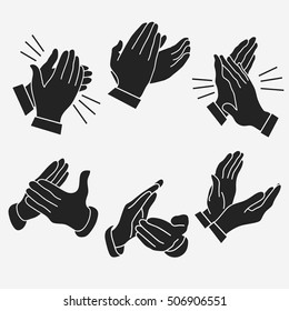 Applause, clapping hands set. vector