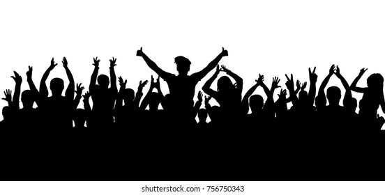 Applause crowd silhouette