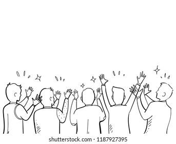 applause hand drawn