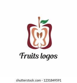 apple abstrack logo , fruit vector