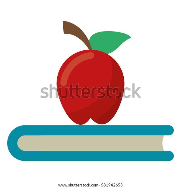 apple book school symbol