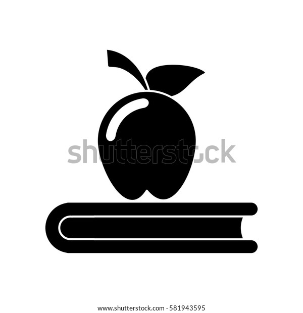 apple book school symbol pictogram
