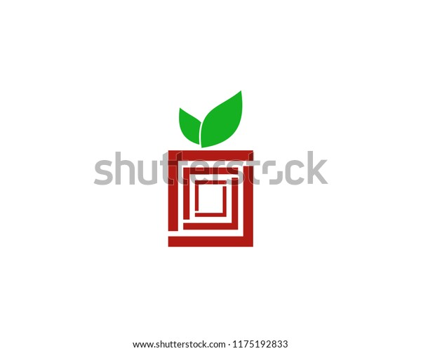 Apple Box Cube Logo Vector Design Stock Vector (Royalty Free