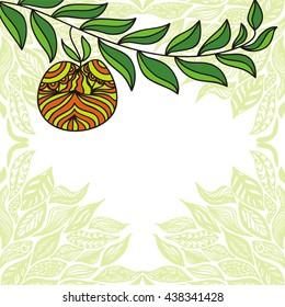 Apple branch. Vector illustration.