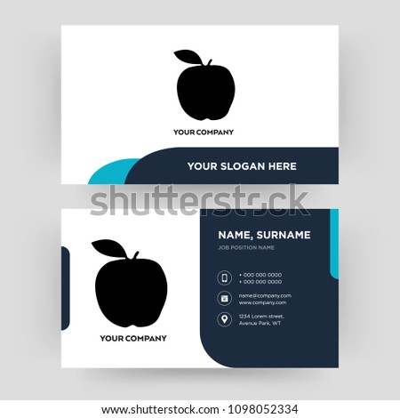 Apple business card design template visiting stock vector royalty apple business card design template visiting for your company modern creative and clean accmission Choice Image