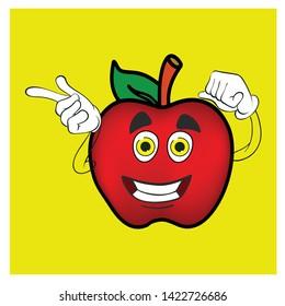 apple cartoon drawing kids apple funny apple cherector apple