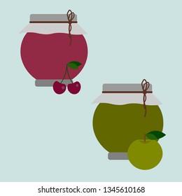 Apple and cherry jam.
