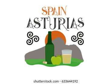 Apple cider drink, 'Sidra',  typical from Asturias, Spain