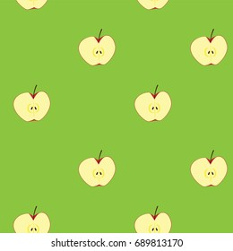 apple clipart illustration, for seamless background, vector format.