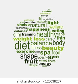 Apple diet and fitness concept