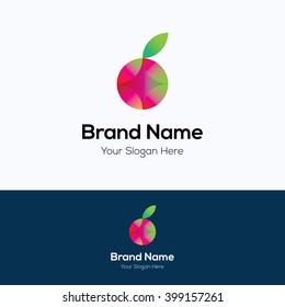 Apple fruit gradient colorful logo