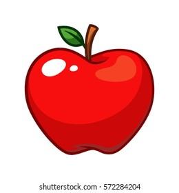 Apple fruit vector.