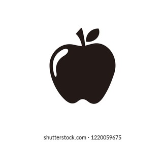 Apple fruit vector icon