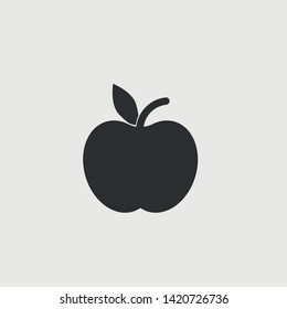Apple fruit vector icon illustration sign