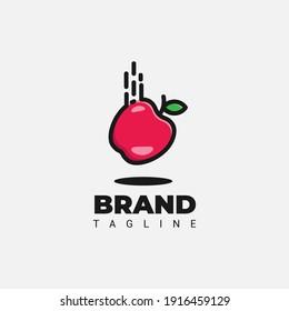 Apple fruits logo design, flat logo, vector eps 10