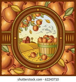 Apple harvest. Vector