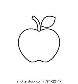 apple outline images stock photos vectors shutterstock rh shutterstock com Apple Logo Outline red apple outline clip art