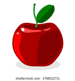 apple icon isolated flat. apple fruits vector design, illustration design