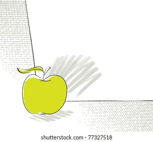 apple icon, page layout (vector)