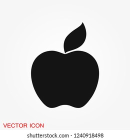 Apple Icon in trendy flat style isolated on background.