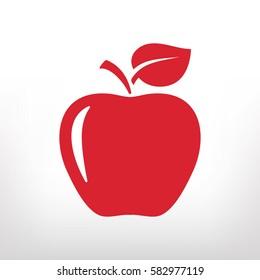 apple icon, vector