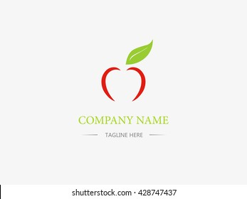 Apple icon vector design. Business logo. Sign and symbol. Abstract wallpaper. Vector illustration. Cartoon and flat style.