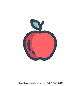 apple icon vector. apple icon filled outline style design