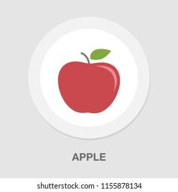 apple icon, vector fruit illustration, healthy food symbol, nature fruit
