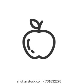 apple icon vector. apple outline style design