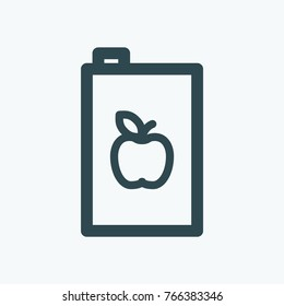 Apple juice pack vector icon