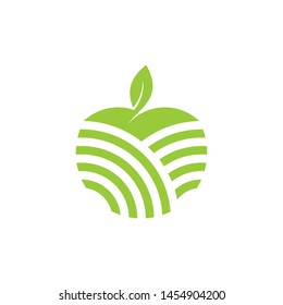 apple and leaf logo template