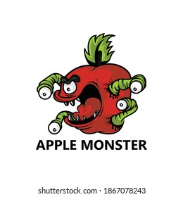 Apple monster logo template design
