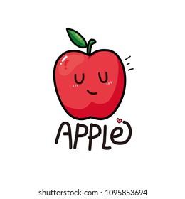 apple pattern.Vector illustration.