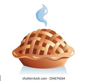 Apple pie vector illustration