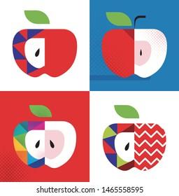 Apple pop art Graphics - Vector