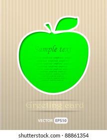 Apple postcard vector illustration