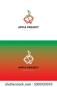 Apple project logo template.