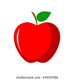 Apple. Red apple vector illustration. Fruit icon