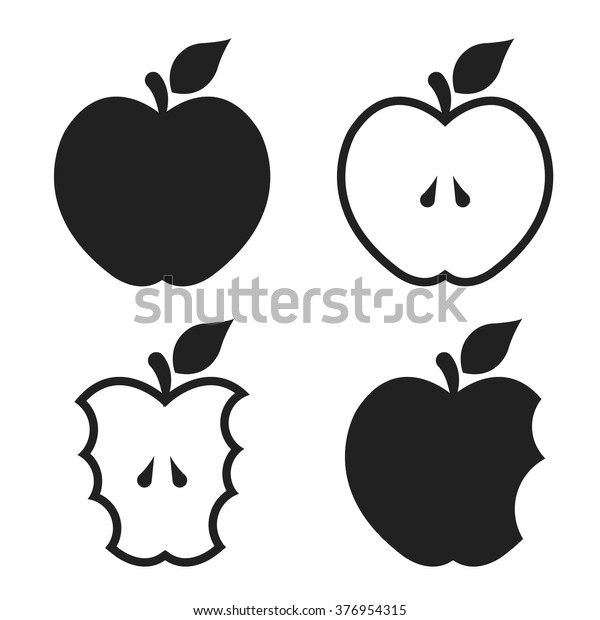 Apple Set Icons Apple Icons Apple Stock Vector (Royalty Free