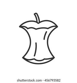 Apple stub linear icon. Thin line design