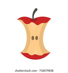Apple stump icon. Flat illustration of Apple stump vector icon for web isolated on white background