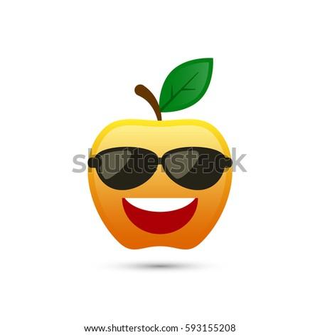 5f509da134f1c Apple Sunglasses Icon Vector Isolated Illustration Stock Vector ...