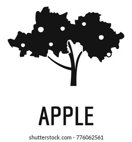 Apple tree icon. Simple illustration of apple tree vector icon for web