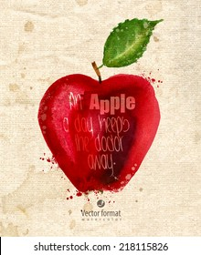 Apple. Vector format