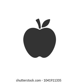 Apple vector icon. Apple fruit