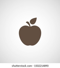 Apple vector icon. Apple fruit illustration icon.Web design vector logo. Apple isolated on background