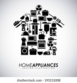 Appliances design over gray background, vector illustration
